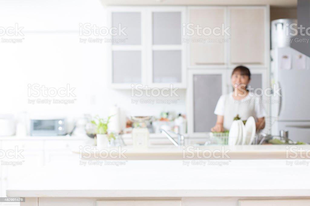 Fundo de cozinha - foto de acervo