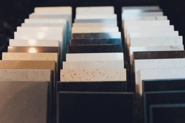 Küche Bad Fliesen Showroom Ausstellung von neuen Fliesen Option für Böden und Wände für Hausbau Verbesserung Sanierungsarbeiten. – Foto
