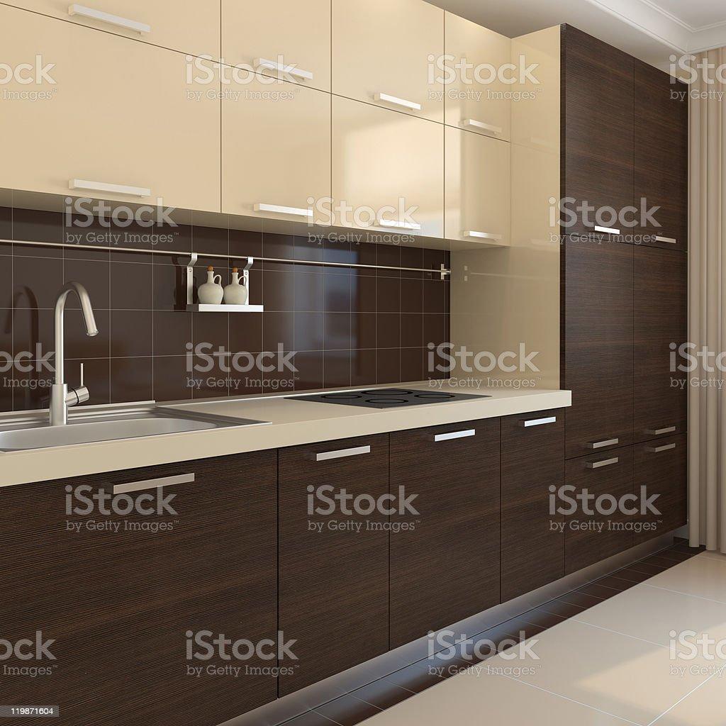 Kitchen classic interior design royalty-free stock photo