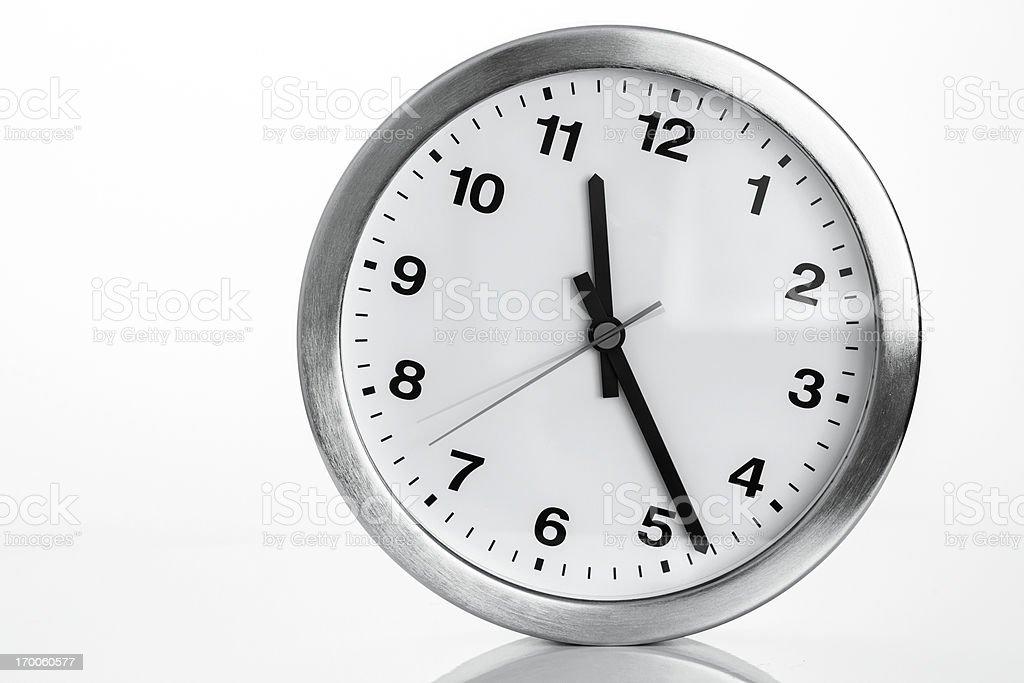 Kitchen clock on white backcground royalty-free stock photo