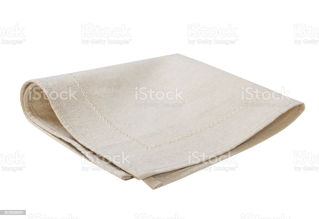 Kitchen cloth plaid isolated. stock photo