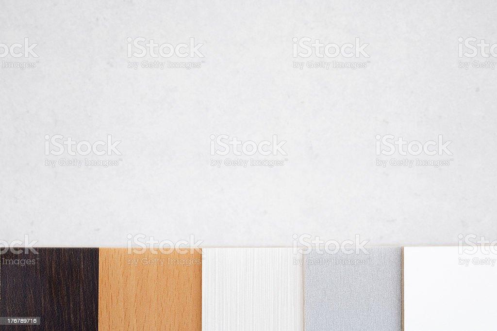 Kitchen Colour Scheme Choices royalty-free stock photo