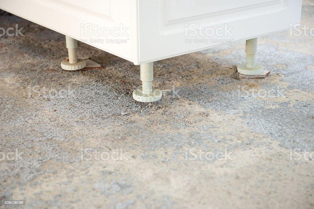 Cucina pavimento di cemento preparazione prima di decidere nuove
