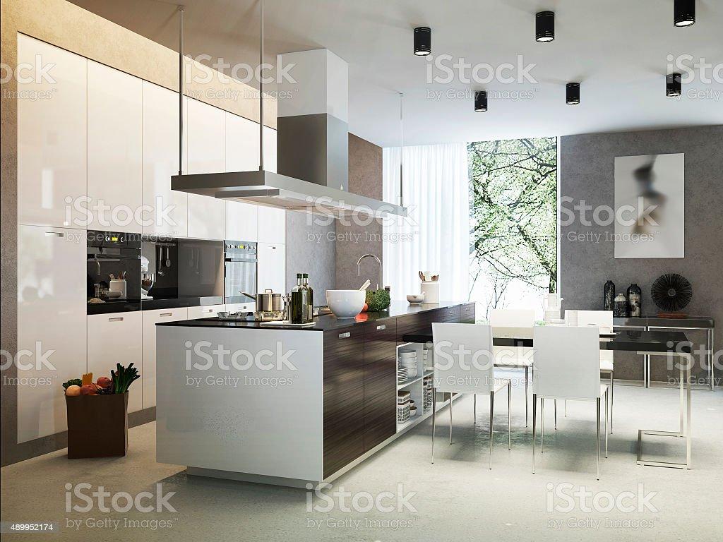 Cucina Stile Contemporaneo - Fotografie stock e altre ...