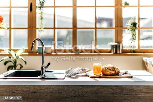 Modern blue and white kitchen interior design house architecture