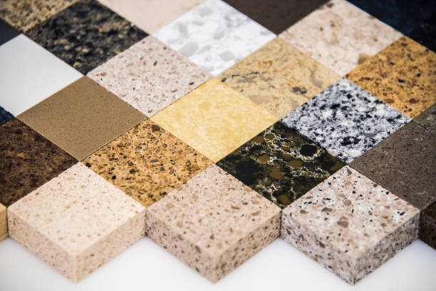 Kitchen countertop samples Kitchen countertop samples granite rock stock pictures, royalty-free photos & images