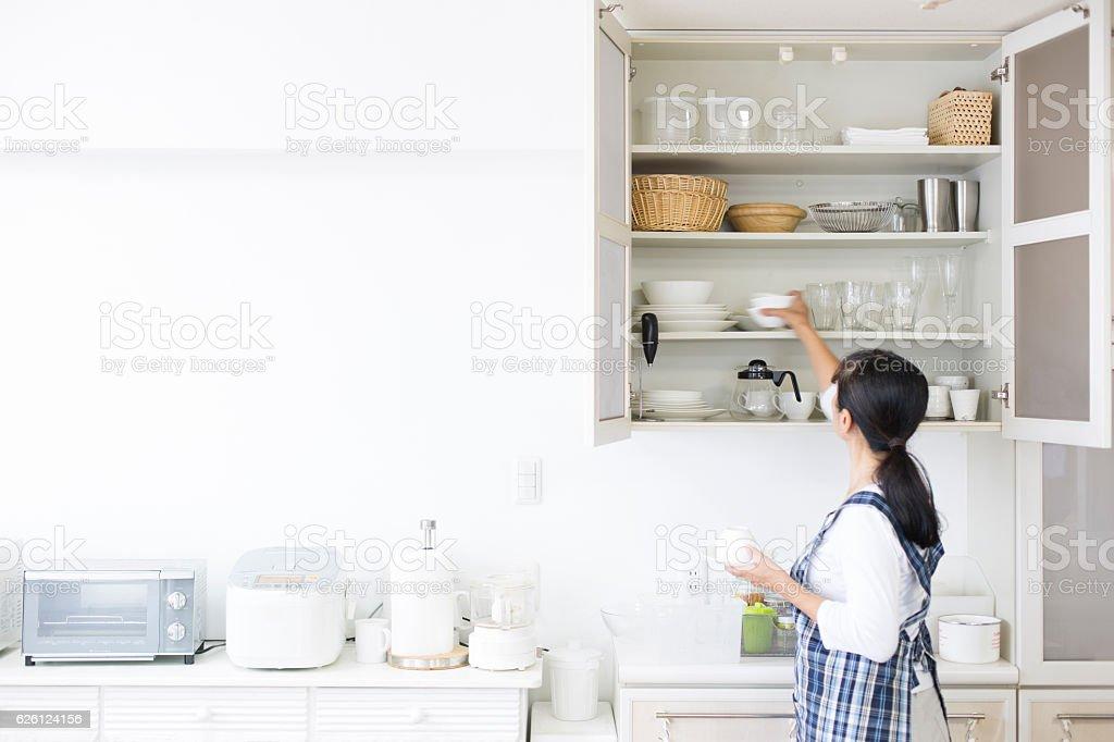 Armários de cozinha foto royalty-free