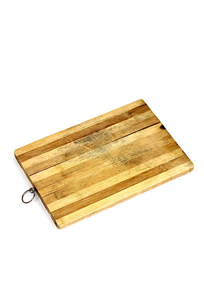 Kitchen cutting board for bread stock photo
