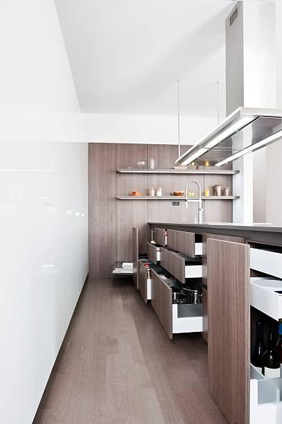 küche der schublade - laminatschränke stock-fotos und bilder