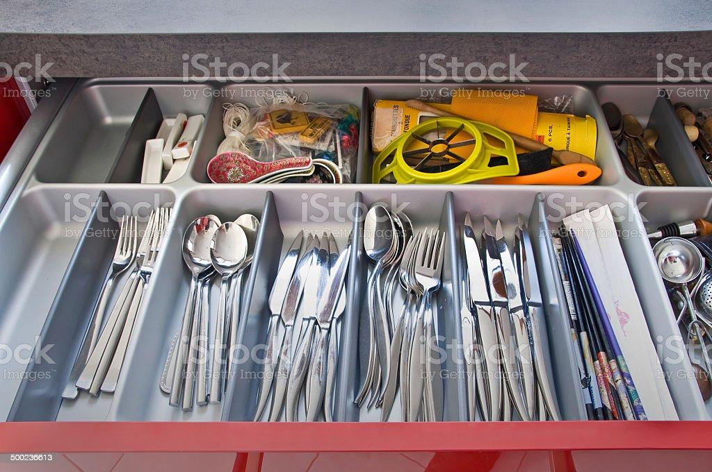Kuche Mit Besteck Schublade Stockfoto Und Mehr Bilder Von Accessoires Istock
