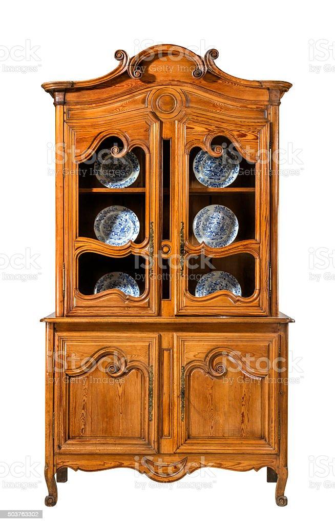 Kuche Kommode Pine Geschnitzten Alte Vintage Stock Fotografie Und