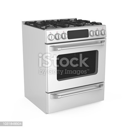 Kitchen Electric Stove isolated on white background. 3D render
