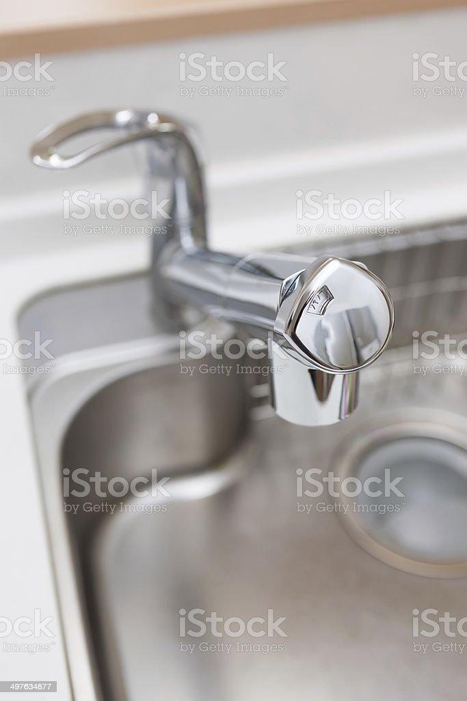 Kitchen Faucet stock photo