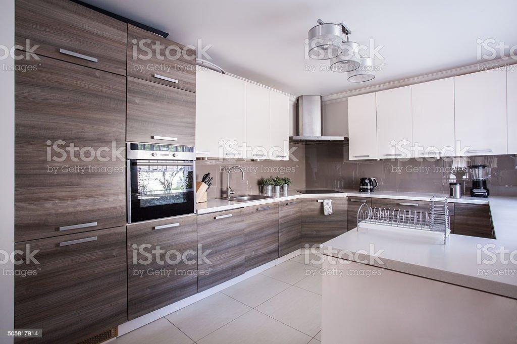 Foto Di Cucine Arredate Moderne.Cucina Arredate Con Un Design Moderno Fotografie Stock E