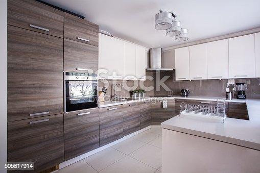 istock Kitchen furnished in modern design 505817914