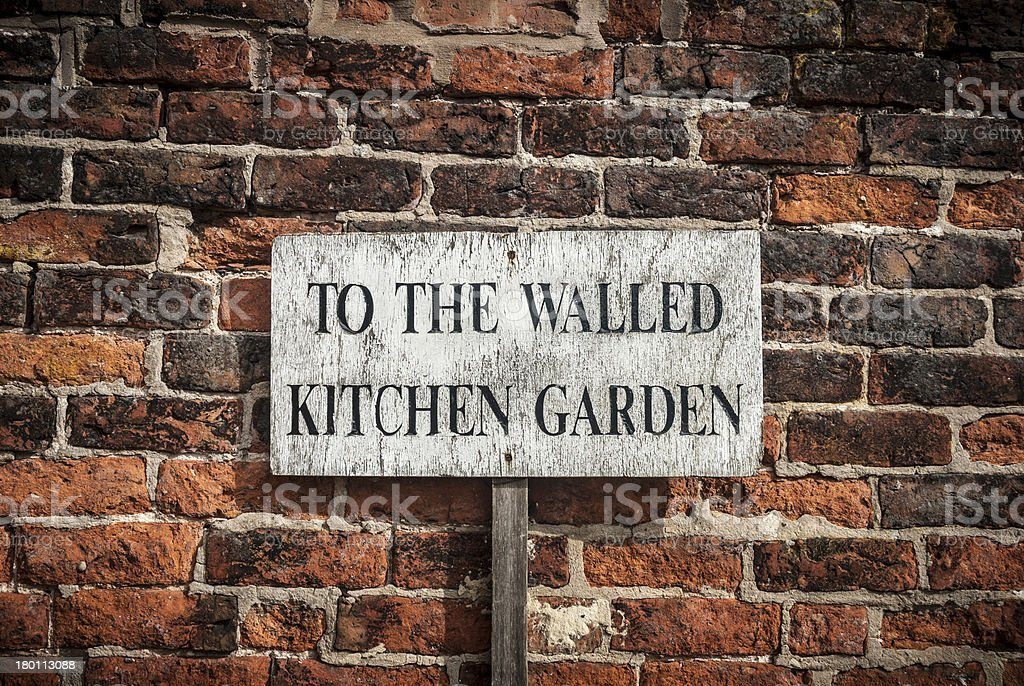 Kitchen Garden Sign stock photo