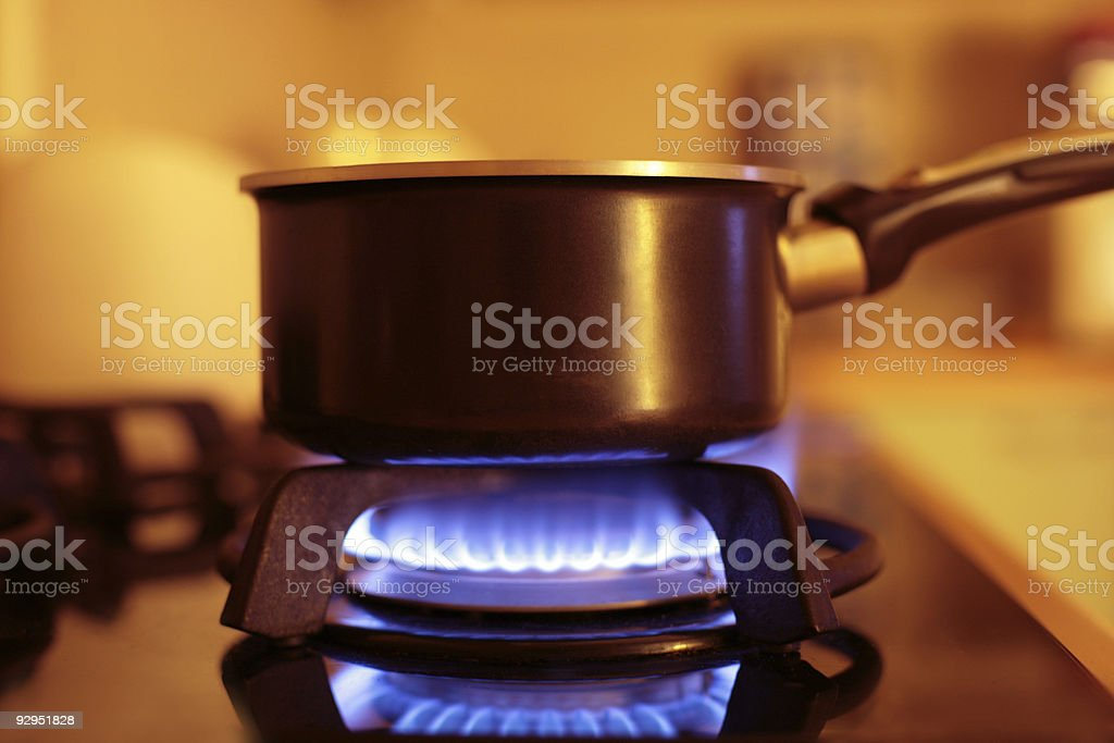 kitchen gaz range stock photo
