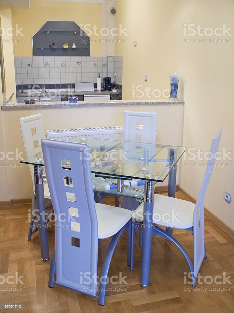 Kitchen in apartment royalty-free stock photo