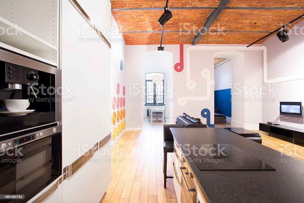 Küche im bachelor-apartment – Foto