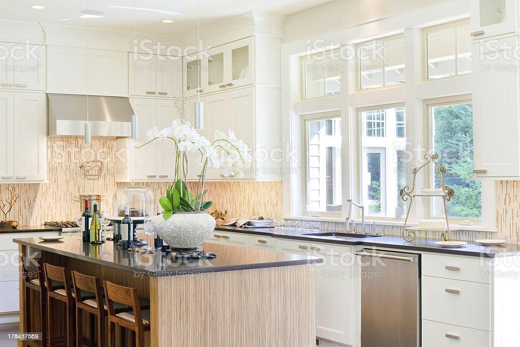 Kitchen in Luxury Home stock photo