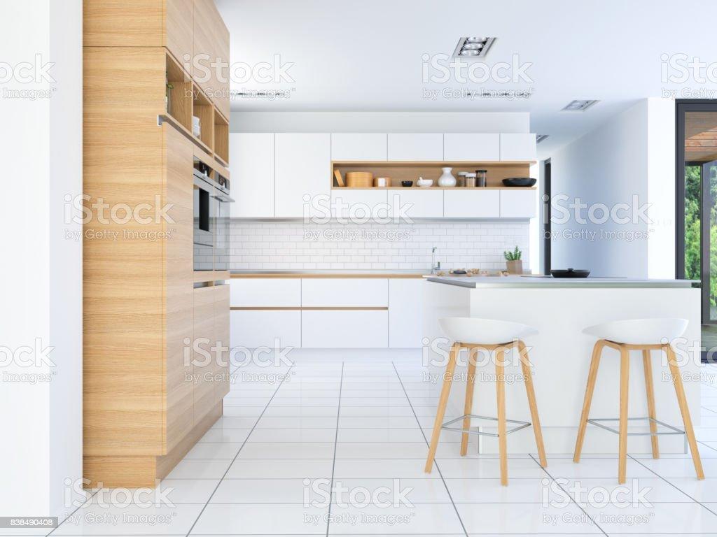 Küche im neuen Luxus-Haus – Foto