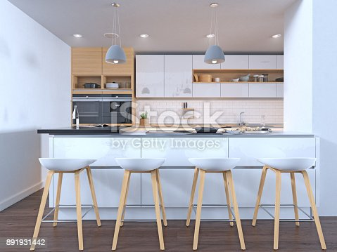 istock Kitchen in new luxury home 891931442