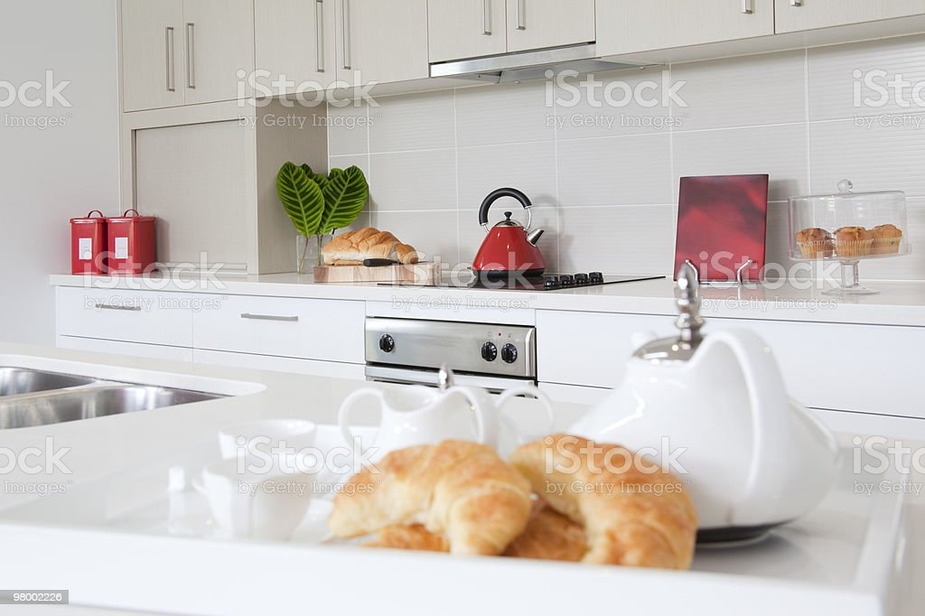 Kitchen in new modern townhouse royalty-free stock photo