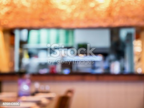 886308526 istock photo kitchen in restaurant blur background 839840690