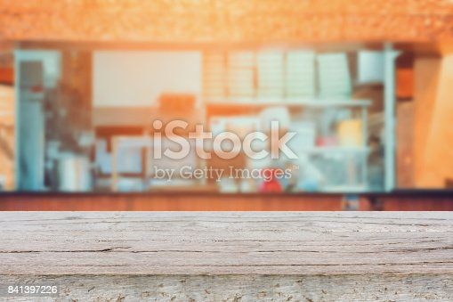 886308526 istock photo kitchen in restaurant blur background 841397226