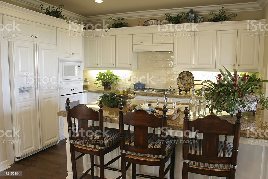 Kitchen in white series royalty-free stock photo