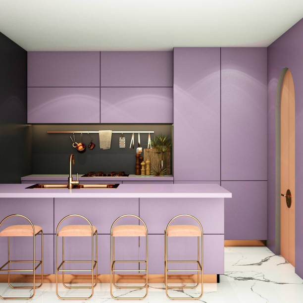 293 Pink Kitchen Cupboards Stock Photos Pictures Royalty Free Images Istock
