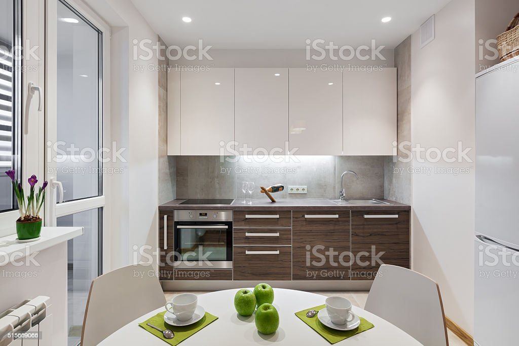 modernes appartement interieur, intérieur de cuisine moderne appartement dans un style scandinave, Design ideen