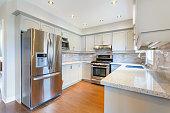 istock Kitchen interior in new luxury home 624459774