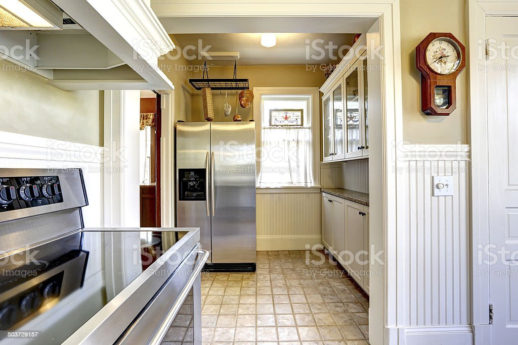 Kitchen Interior In Old House With Modern Appliances Stock Photo Download Image Now Istock