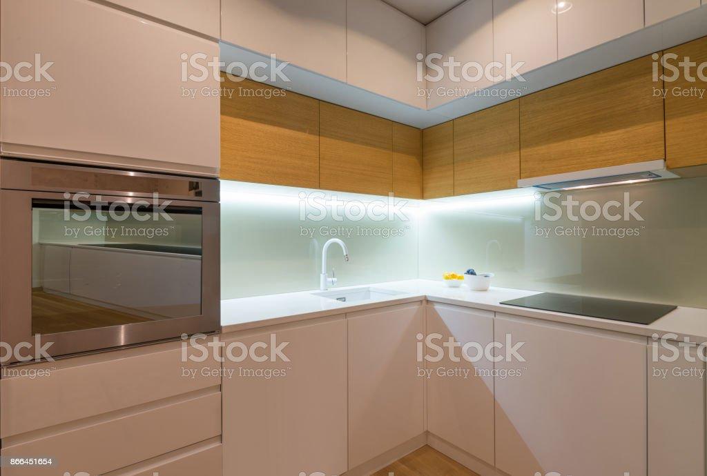 Kitchen interior, modern design stock photo