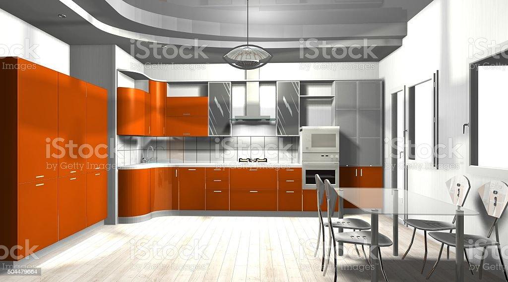 Photo Libre De Droit De Interieur De Cuisine Orange Couleur