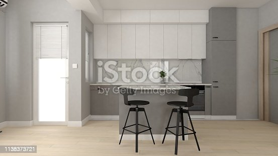 istock Kitchen interior 1138373721