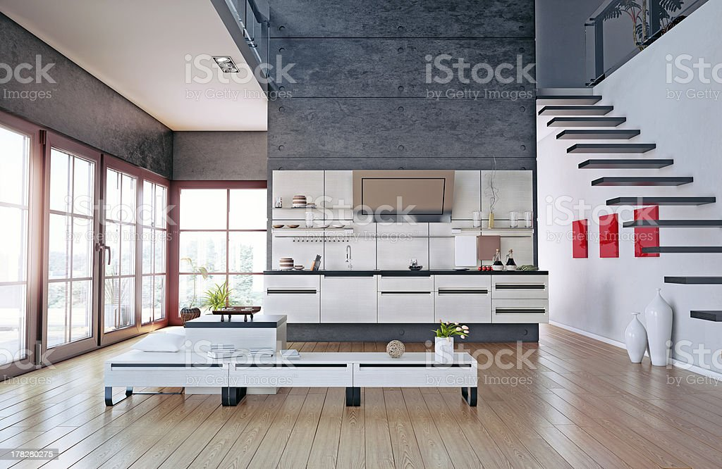 kitchen interior royalty-free stock photo