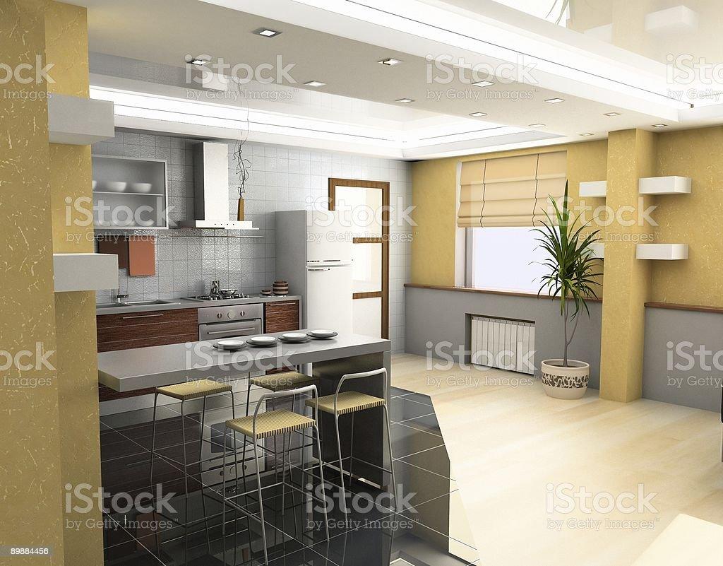 Интерьер ресторана kitchen Стоковые фото Стоковая фотография