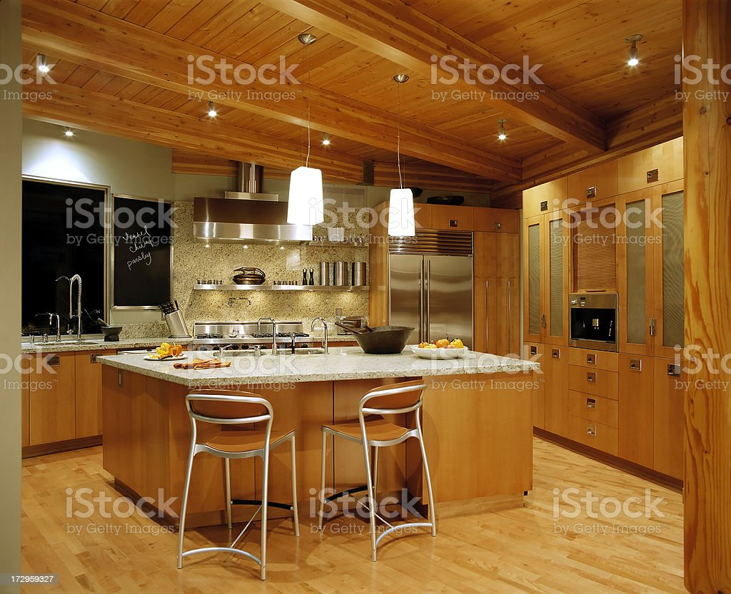 kitchen island house nobody stock photo