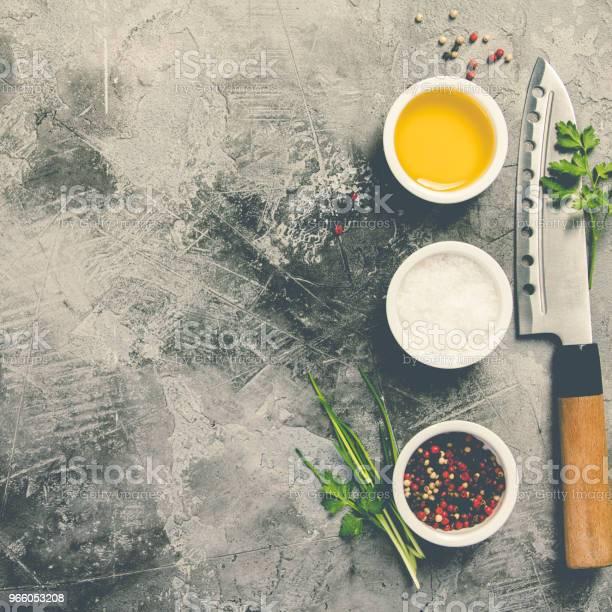 Kökskniv Och Kryddor-foton och fler bilder på Asien