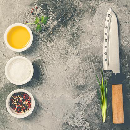 Keukenmes En Specerijen Stockfoto en meer beelden van Azië