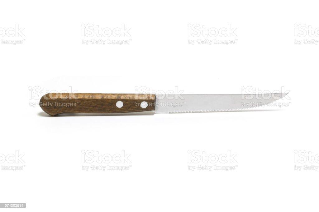 Kitchen knife isolated on white background royalty-free stock photo