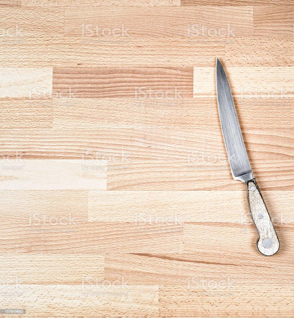 Kitchen Knife Ready to Chop stock photo