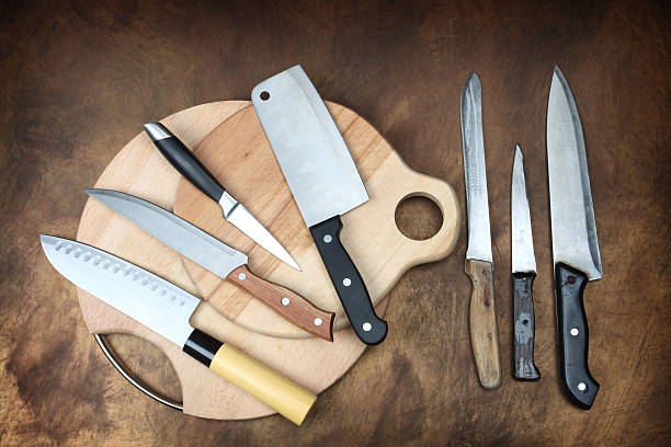 kitchen knives stock photo