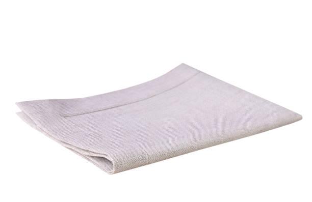 Kitchen light grey beige cloth folded isolated. stock photo