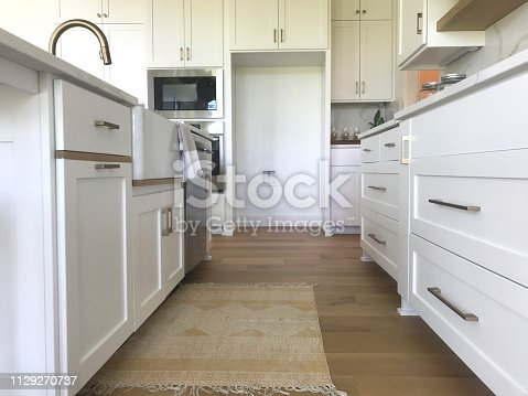 part of a kitchen from a low vantage point