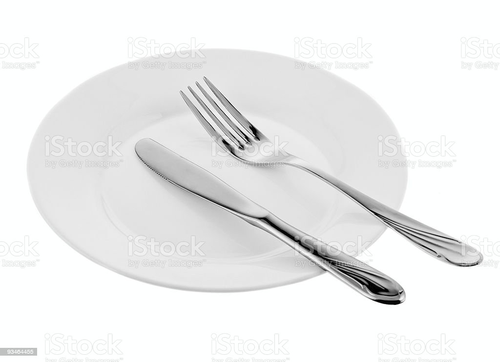 kitchen object fork and knife royalty-free stock photo