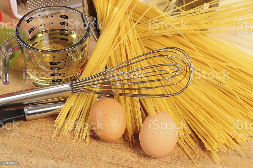 Kitchen objects and ingredients. royalty-free stock photo
