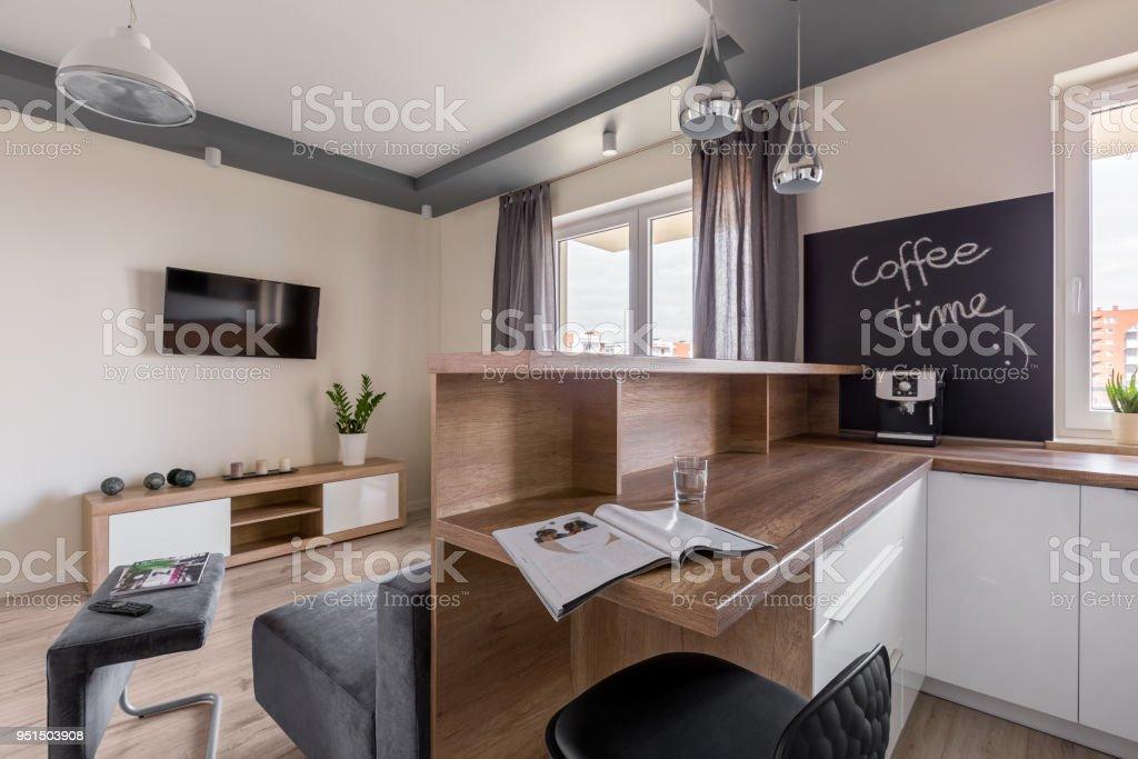Offene Küche Zum Wohnzimmer Stockfoto und mehr Bilder von ...